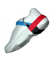 "Transforming Technologies High Visibility Sport Heel Ground With 1.25"" Cup Velcro Hook & Loop 1Meg Resistor Blue/Red"