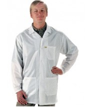 "Tech Wear EconoShield ESD-Safe 34""L Coat ECX-500 Color: White Size: Large"