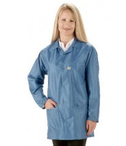 "Tech Wear EconoShield ESD-Safe 34""L Coat ECX-500 Color: Royal Blue Size: X-Large"