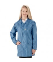 "Tech Wear EconoShield ESD-Safe 30""L Coat ECX-500 Color: Royal Blue Size: X-Small"