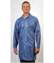 "Tech Wear ESD-Safe 32""L Traditional Coat OFX-100 Color: Blue Size: X-Large"