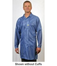 "Tech Wear ESD-Safe 40""L Traditional Coat With ESD Cuff OFX-100 Color: Hi-Tech Blue Size: 2X-Large"