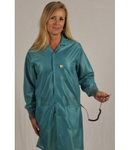"Tech Wear ESD-Safe 40""L Traditional Coat With ESD Cuff OFX-100 Color: Teal Size: 2X-Large"