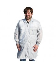 "Tech Wear ESD-Safe 40""L Traditional Coat With ESD Cuff OFX-100 Color: White Size: 5X-Large"