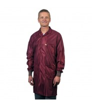 "Tech Wear ESD-Safe 40""L Traditional Coat With ESD Cuff OFX-100 Color: Burgundy Size: X-Large"