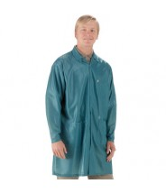 "Tech Wear ESD-Safe 39""L Traditional Coat OFX-100 Color: Teal Size: Large"
