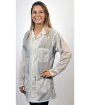 "Tech Wear ESD-Safe 32""L Traditional Jacket OFX-100 Color: White Size: 5X-Large"