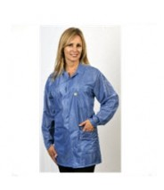 "Tech Wear ESD-Safe 32""L Traditional Jacket OFX-100 Color: Blue Size: Large"