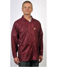 "Tech Wear ESD-Safe 32""L Traditional Jacket OFX-100 Color: Burgundy Size: Small"