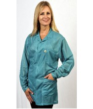 "Tech Wear ESD-Safe 32""L Traditional Jacket OFX-100 Color: Teal  Size: X-Small"