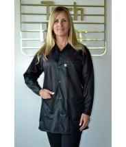 "Tech Wear ESD-Safe 33""L Traditional Jacket OFX-100 Color: Black Size: 5X-Large"
