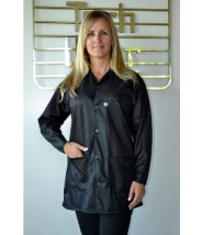 "Tech Wear ESD-Safe 32""L Traditional Jacket OFX-100 Color: Black Size: Large"