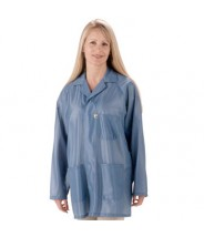 "Tech Wear ESD-Safe 31""L Traditional Jacket With ESD Cuff OFX-100 Color: Hi-Tech Blue Size: X-Small"