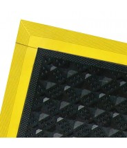 "Transforming Technologies ESD Mitered Corner Edge Ramp 4""x24"" for the PV3000 Series Tile  Male Color: Yellow"