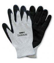 QRP Qualakote® ESD Medium Heat (Up To 250°F) Wave Solder Glove Nitrile Palm Coated Heavy Carbon/Nylon Knit Size: Medium 12Pair/Pak