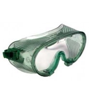 QVIS Expo Goggles Soft Vinyl with Polycarbonate Lens, Direct Vent, Scratch Resistant, ANSI approved. Z87.1 1989 Color: Green Tinted 12/Box