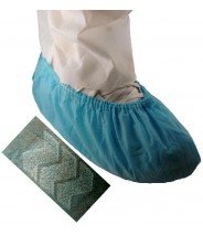 Epic Shoe Cover Cleanroom Skid Free Polypropylene Color: Blue Size: X-Large 100/Bag 3Bags/Case