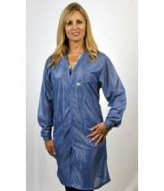 "Tech Wear Traditional ESD-Safe V-Neck 40""L Coat OFX-100 Color: Hi-Tech Blue Size: 5X-Large."