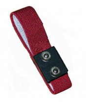 Transforming Technologies Wrist Strap Only Dual Conductor Adjustable 4mm Maroon Fabric