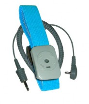 Transforming Technologies Wrist Strap Only  Dual Conductor Adjustable Turquoise Fabric