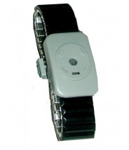 Transforming Technologies Dual Conductor Black Speidel Metal Wrist Strap Size: Large