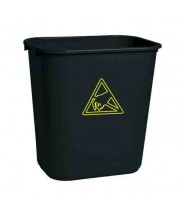 Transforming Technologies ESD Safe Waste Basket: 22 Gallon Black