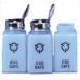 R&R Lotion Solvent Dispenser 6oz. Standard Pump ESD Safe Blue